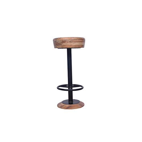 Décor Industrial Style Adjustable Swivel Bar Stool with Hoopo Footrest
