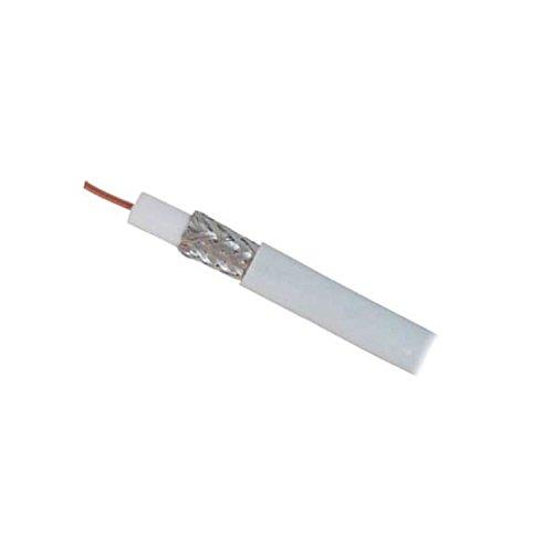 SAT de cable coaxial (1,1/5,0, doble apantallado, aluminio, BZT - CE - mm CU > 95 dB, 25 m: Amazon.es: Electrónica