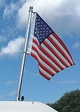 Taylor Made Products 902 Boat Flag Pole Kit, Stainless Steel, 18 inch