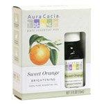 Aura Cacia Essential Oil, Brightening Sweet Orange, 0.5 flui