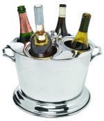 Royal Four-Bottle Cooler, Double Wall, (Cooler Silver Wine Plated Stand)