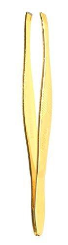 Deluxe Slant Tip Tweezers 24k Gold Finish. 1ct. (Tip Deluxe Tweezer)