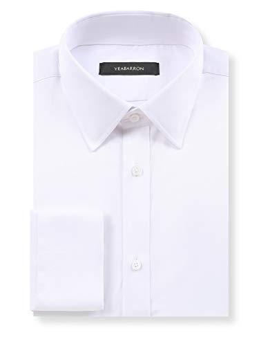 YEABARRON Men's Custom Made Tailored Fit Monogrammed Long Sleeve Dress Shirt (High-End Custom)