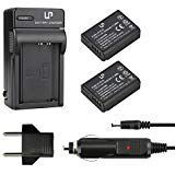 LP LP-E10 Battery Charger Set, 2-Pack Backup Battery and Charger Accessories, Compatible with Canon EOS Rebel T3, T5, T6, T7, 1100D, 1200D, 1300D, 1500D, 3000D, Hi, Kiss X50, X70, X80, X90 Cameras