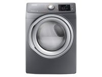 Samsung DV42H5200EP 7.5 Cu. Ft. Front-Load Electric Steam Dryer with Sensor Dry, Platinum