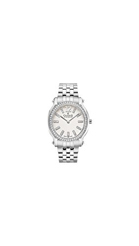 Charmex Women's EZE 31.5mm Steel Bracelet & Case Sapphire Crystal Quartz White Dial Analog Watch 6355