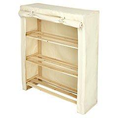 Polycotton Canvas 3 Tier storage Shelf Unit & Bedside cabinet