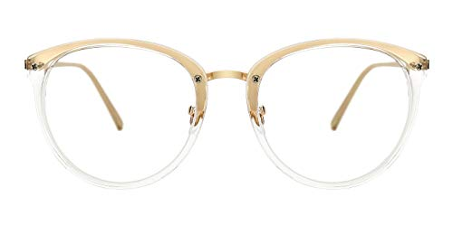 9e72b9b68e TIJN Vintage Round Metal Optical Eyewear Non-prescription Eyeglasses Frame  for Women