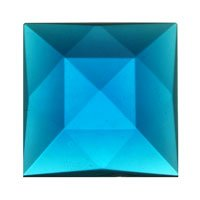 Stained Glass Jewels - 18mm Square Faceted - Turquoise