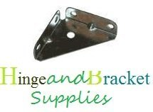 Hinge and Bracket Supplies Metal Corner Bracket 10 Pces 50Mm X 50Mm Zinc Plated 1Mm Thickness by Hinge and Bracket Supplies