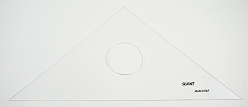 QUINT Premium Unbreakable Clear Academic Triangle 45/90 - 10'' 30-Piece Classroom Pack by Quint Measuring Systems