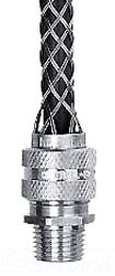 Hubbell 074011255 Deluxe Cord Grip, Straight Male, 1 1/2'' with Mesh, 10.5''-10.6'' Cable