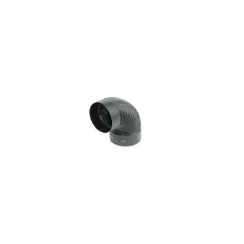 Chimney 73840 8 in. 24-ga Snap-Lock Black Stovepipe 90 Deg Corrugated Nonadjustable Elbow