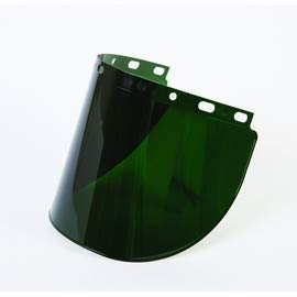 Honeywell HON4178IRUV5 Fibre-Metal by High Performance Model 4178 8 X 16 1/2 X .06 Green Shade 5 Injection Molded Propionate Wide View Faceshield, Plastic, 1