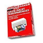 Office Depot(R) Inkjet Transparency Film, Clear, Pack Of 50