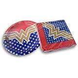 Wonder Woman Super Hero Party Bundle - Plates and -