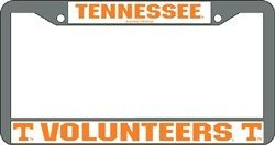 Tennessee Volunteers Chrome License Plate - Premium Tennessee Outlets