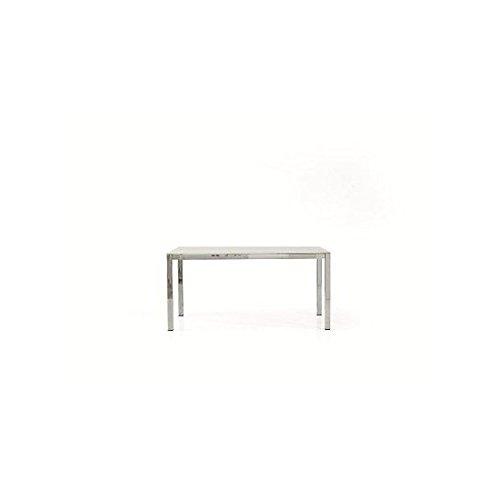 EsteaMobili Mesa Cristal Moderno Extensible 160 x 90 - 260 x 90 x ...