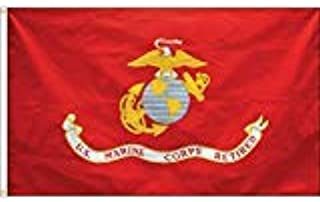 product image for Eder Flag - Endura-Poly Retired Marine Corps Flag - Indoor & Outdoor - Proudly Made in The USA - Durable - Fade-Resistant - Quality Craftsmanship (3X5 Foot)