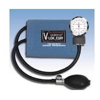 W. A. Baum Pocket Aneroid Sphygmomanometer, with Adult Calibrated V-Lok and Case by W. A. Baum Co. Inc