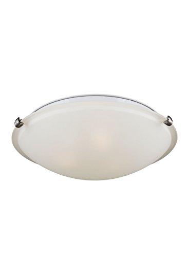 (Sea Gull Lighting 7543503-962 Flush Mount Ceiling Fixture, Three-Light, Brushed Nickel Finish)