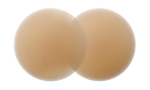 Nippies Skin Ultimate Bra Inserts No Adhesive Nipplecovers & Travel Case - Caramel (Size One - Fits A - C Cups)