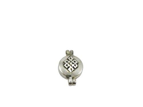 Handmade Tibetan Om, Eternal Knot, Kalachakra Amulet Ga