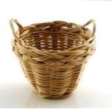 Dolls & Bears Dolls House Wicker Picnic Hamper Woven Basket With Lid Miniature Accessory
