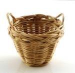 Melody Jane Dollhouse 2 Handled Wicker Washing Storage Basket Miniature 1:12 Accessory