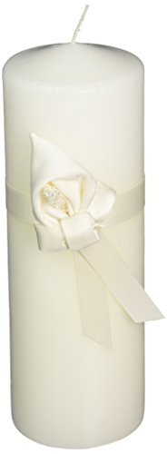 [Ivy Lane Design Calla Lily Wedding Collection Unity Pillar Candle, Ivory] (Lilies Unity Candle)