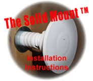 - The Solid Mount for Mounting Grab Bars (1 pair)