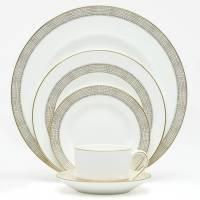 Wedgwood Vera Wang Gilded Weave 5-Piece Place (Wedgwood Platinum Dinnerware)