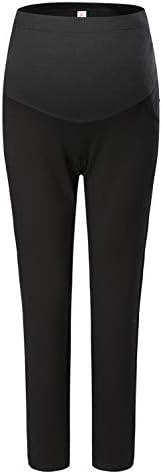 V VOCNI Women's Maternity Work Trousers Full Length Office Formal Elegant Maternity Pants in Straight Preg