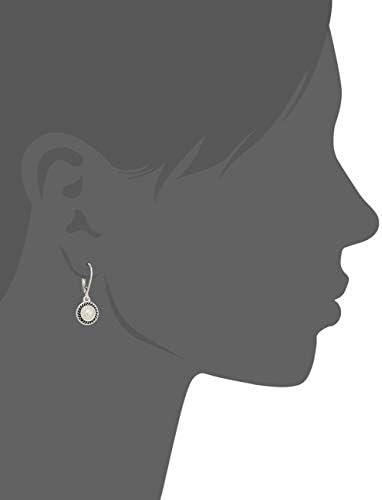 Napier Women's Pierced Earrings Pearl Drop Leverback, Silver/White Pearl