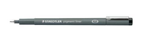 Staedtler 308 07-9 0.7mm Fineliner Pigment Liner - Black (Pack of 10)
