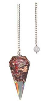Fortune Telling Toys Divination Question and Answer Pendulum 6 Sided Orgone Garnet