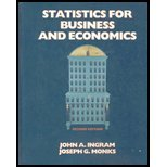 Statistics for Business and Economics, Ingram, John A. and Monks, Joseph G., 0534510477