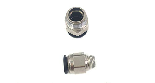Wanm Pneumatic Push to Connect Tube Fittings, Round Male Straight - 1/2'' Tube OD x 1/4'' Inch NPT Thread(10 per Pack)