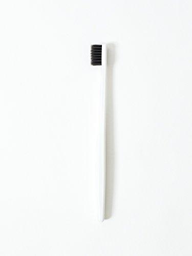 Morihata Binchotan Activated Charcoal Toothbrush, Soft Bristles - White