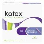 Kotex Tampons Plastic Super Plus Absorbency 18 CT (Pack of 12)