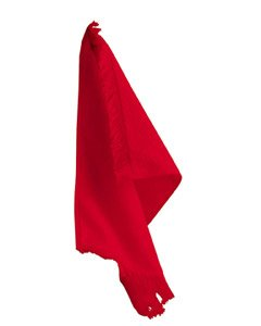 - Anvil Fringed Fingertip Towel, red, One Size