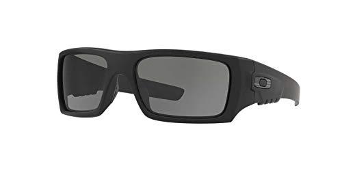 Oakley Men's OO9253 Det Cord Rectangular Sunglasses, Matte Black/Grey, 61 mm Ansi Z871 Safety Standard