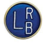 X-Ray Markers, Button Style - Round, 2-3 Initials, LEFT ONLY, L 5/8''