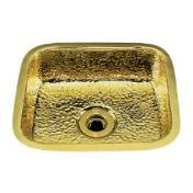 Undermount Hammertone Bar - Bates B0150H.SN - SMALL RECTANGULAR BAR SINK. HAMMERTONE PATTERN, UNDERMOUNT & DROP IN. SCULPTURED METALS - BAR SINKS. FINISH: SATIN NICKEL