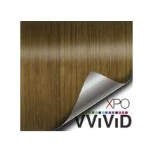 """VVIVID Teak Wood Grain Faux Finish Textured Vinyl Wrap Contact Paper Film DIY No Mess Easy to Install Air-release Adhesive (1ft x 48"""")"""