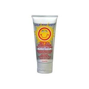 California Baby SPF 30 + sans parfum, lotion solaire - Super Sensitive, 2.9 oz