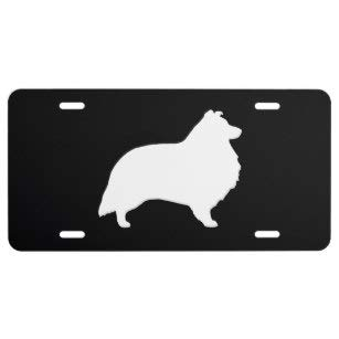 pdog Silhouette License Plate ()