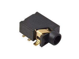 CUI Inc SJ1-3514-SMT-TR SJ1 Series 3.5 mm 12 V Right Angle SMT Stereo Audio Jack - 800 item(s) -