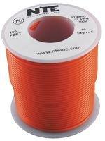 NTE Electronics WH22-03-100 Hook Up Wire, Stranded, Type 22 Gauge, 100' Length, Orange