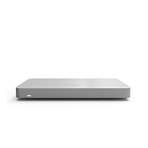 Cisco Meraki MX67 Cloud-Managed Security Appliance | MX67-HW | 450 Mbps throughput | Firewall and DHCP Device